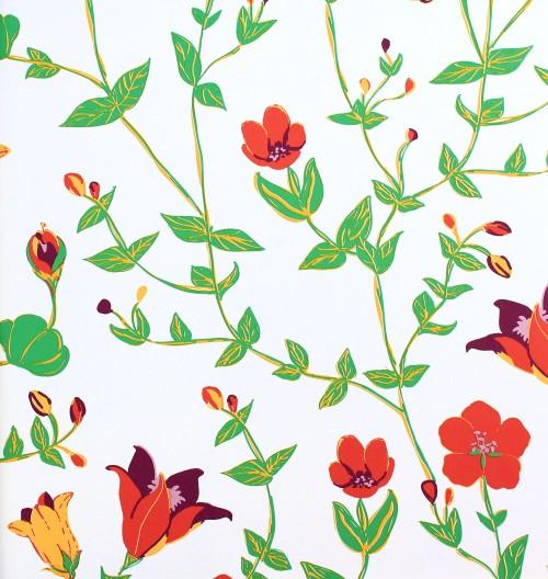 Rasch Tapeten Lederoptik : Vintage Chic Tapete Rasch Textil Tapete Landhaus 321509 Floral gr?n