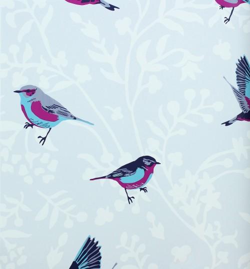 Rasch Tapeten Lederoptik : Vintage Chic Tapete Rasch Textil Tapete Landhaus 321615 Vogel blau