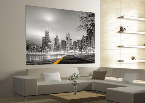 xxl poster fototapete tapete new york skyline nyc foto 160 cm x 115 cm grau. Black Bedroom Furniture Sets. Home Design Ideas