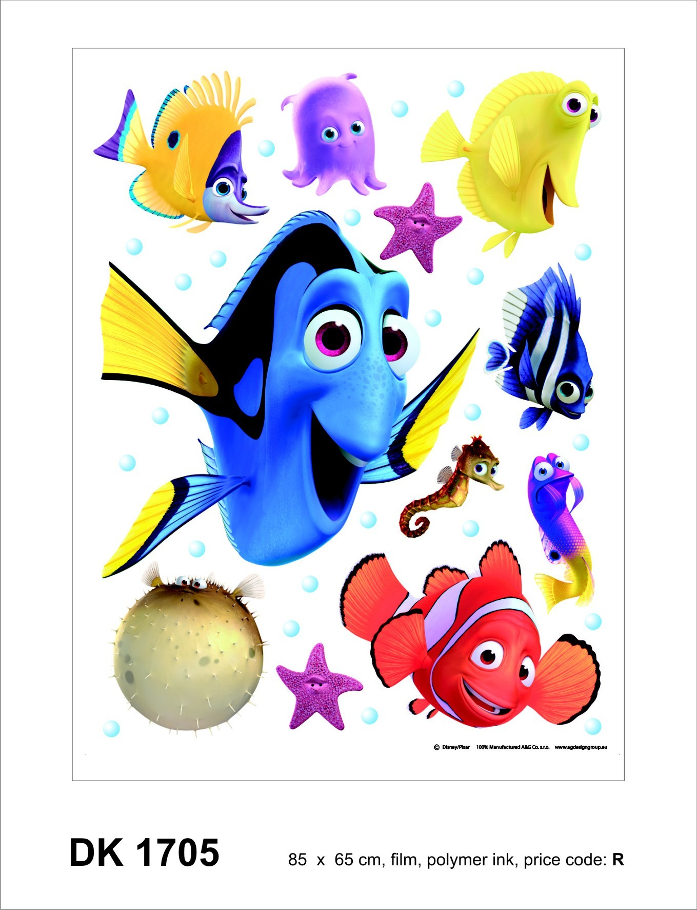 Kinder wandsticker wandtattoo kinderdeko findet nemo for Kinder wandsticker