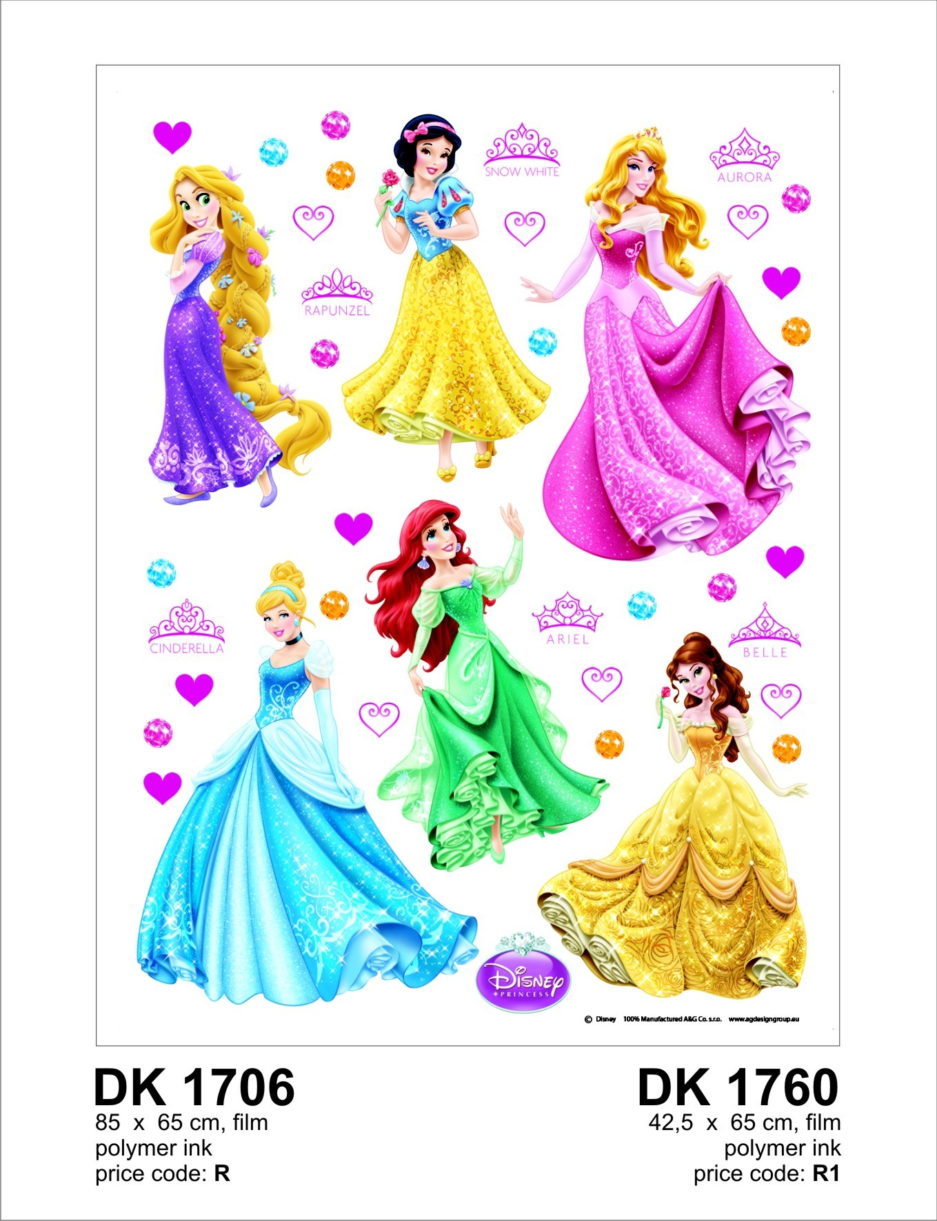 kinder wandsticker wandtattoo kinderdeko disney prinzessin. Black Bedroom Furniture Sets. Home Design Ideas
