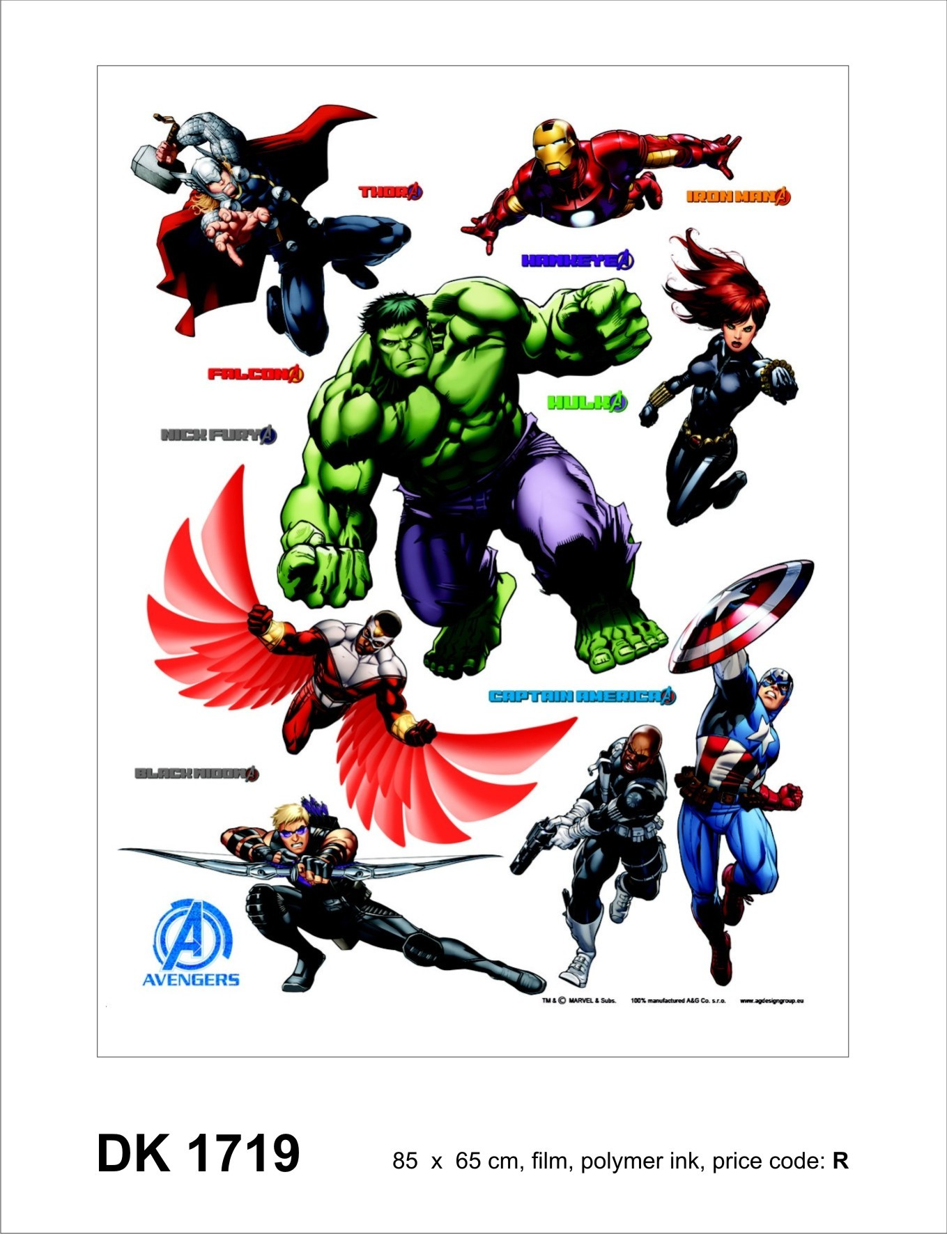 Kinder wandsticker wandtattoo kinderdeko marvel the avengers for Kinder wandsticker