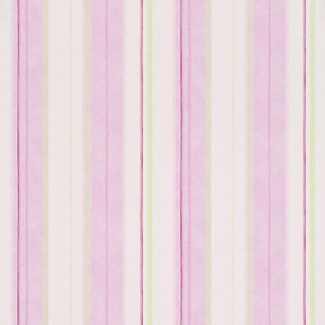 Kindertapete rasch piccolo tapete 271515 streifen rosa gr n for Tapete streichen