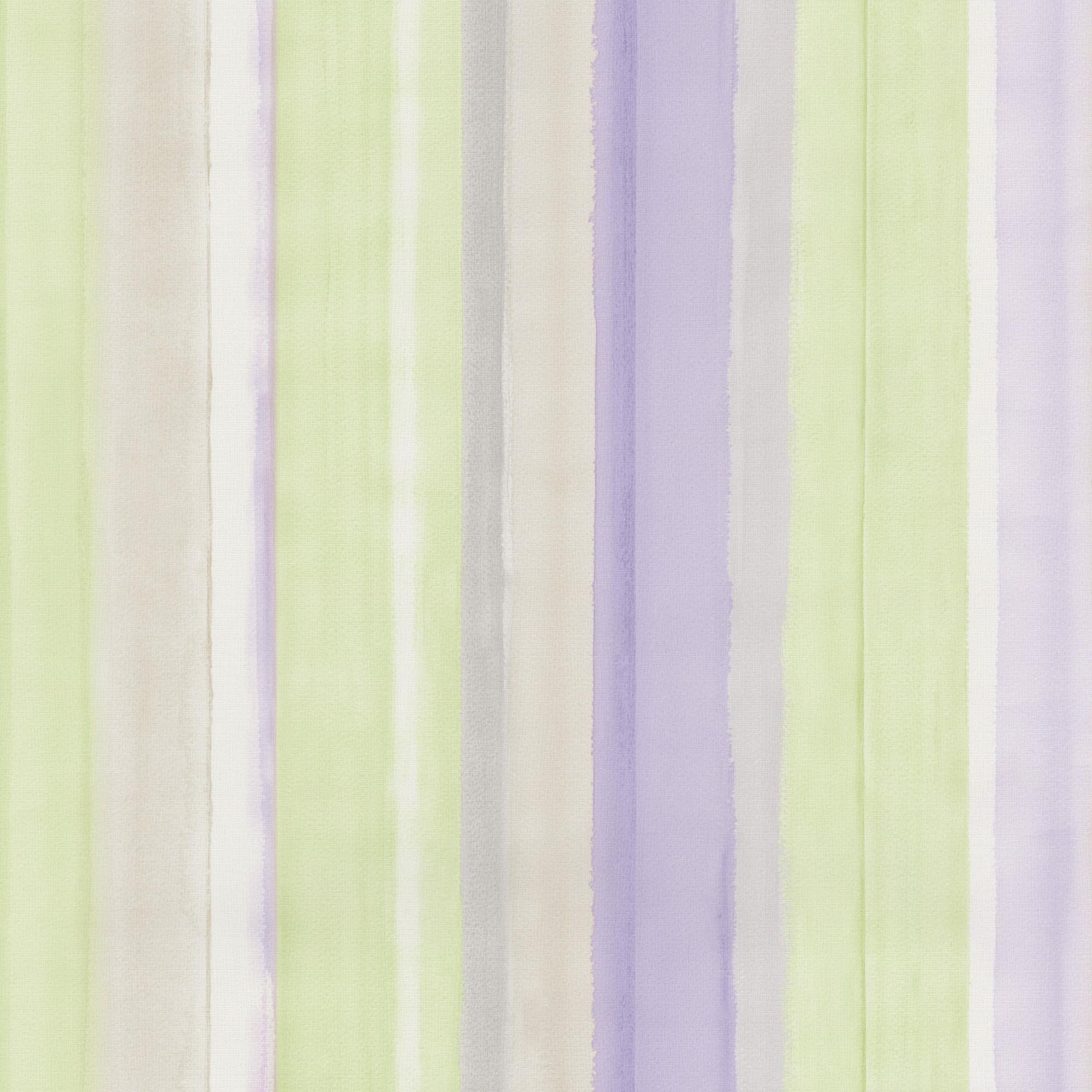 Tapeten Streifen Pastell : PS Tapete 4 ever 02330-60 0233060 Streifen pastell lila gr?n