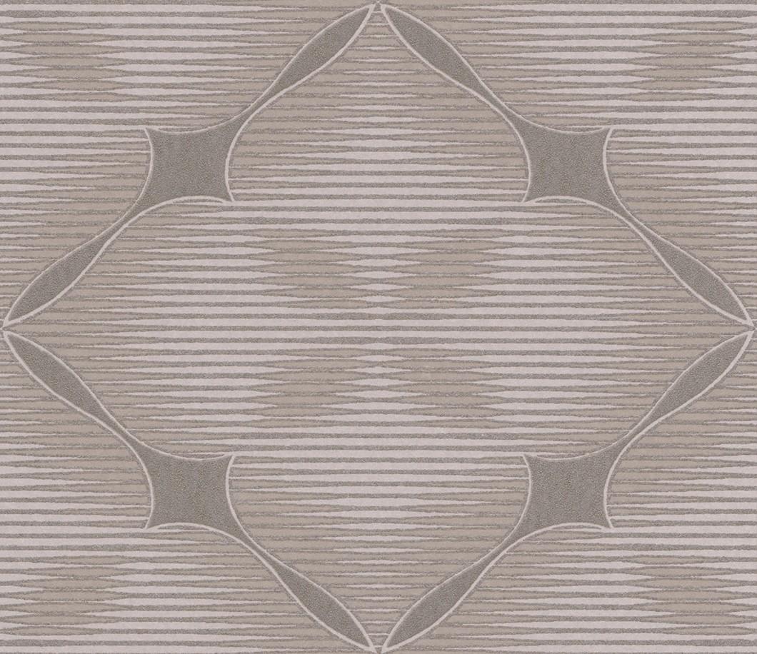 Tapete Rasch Textil City View Floral beige braun 223957