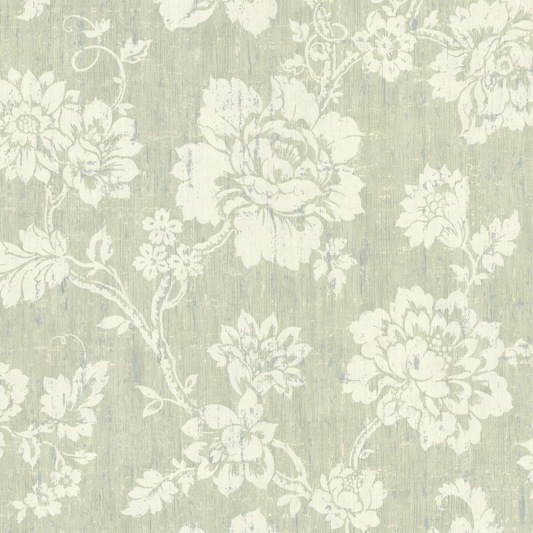 tapete onyx vliestapete rasch textil 020050 blumen gr n grau. Black Bedroom Furniture Sets. Home Design Ideas