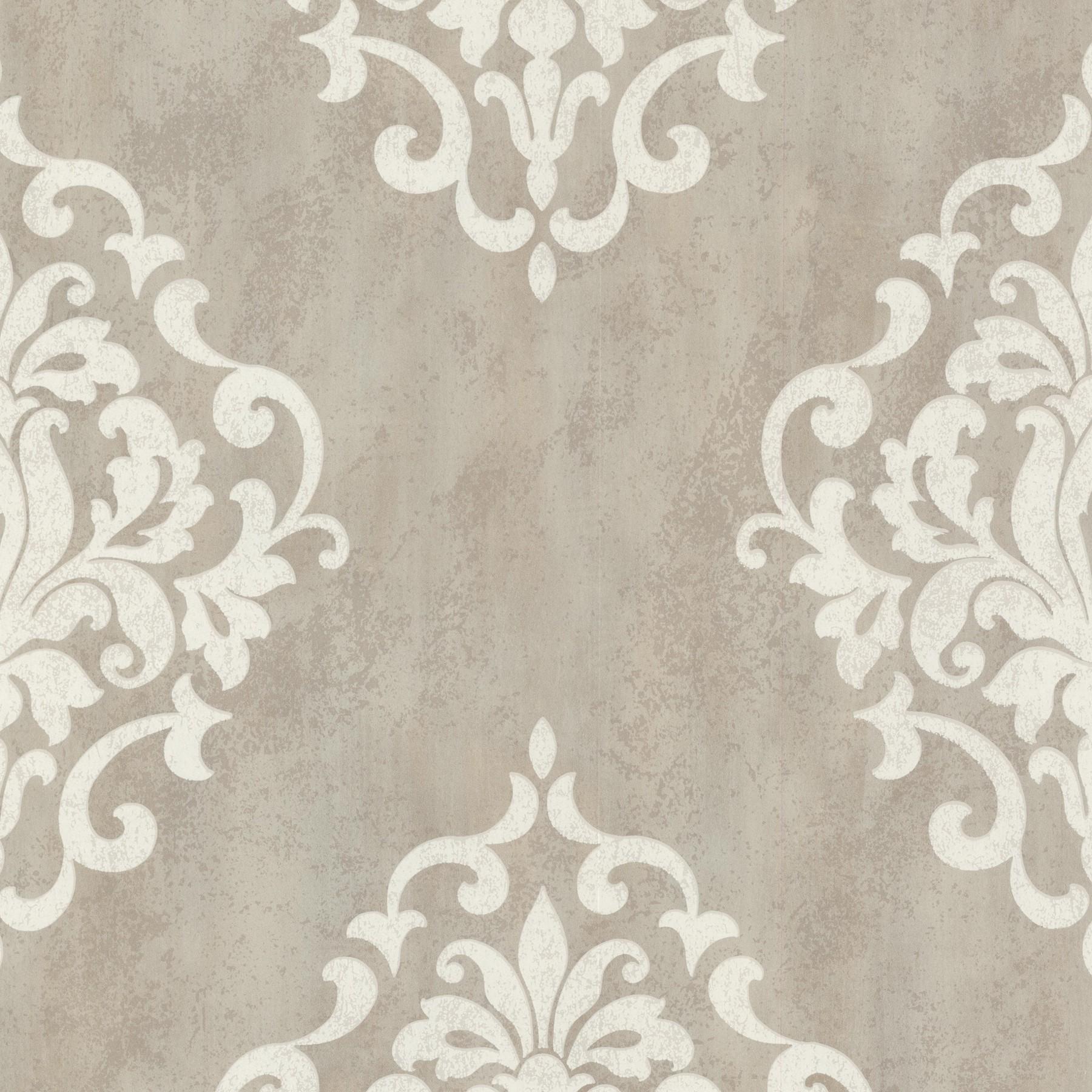 Barock Tapete Beige Creme : Tapete Onyx Vliestapete Rasch Textil 020085 Barock grau-beige creme