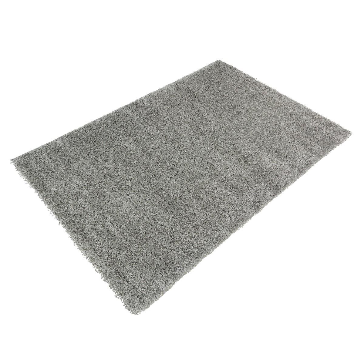 Hochflor Teppich Shaggy Teppich Fancy Uni Einfarbig grau