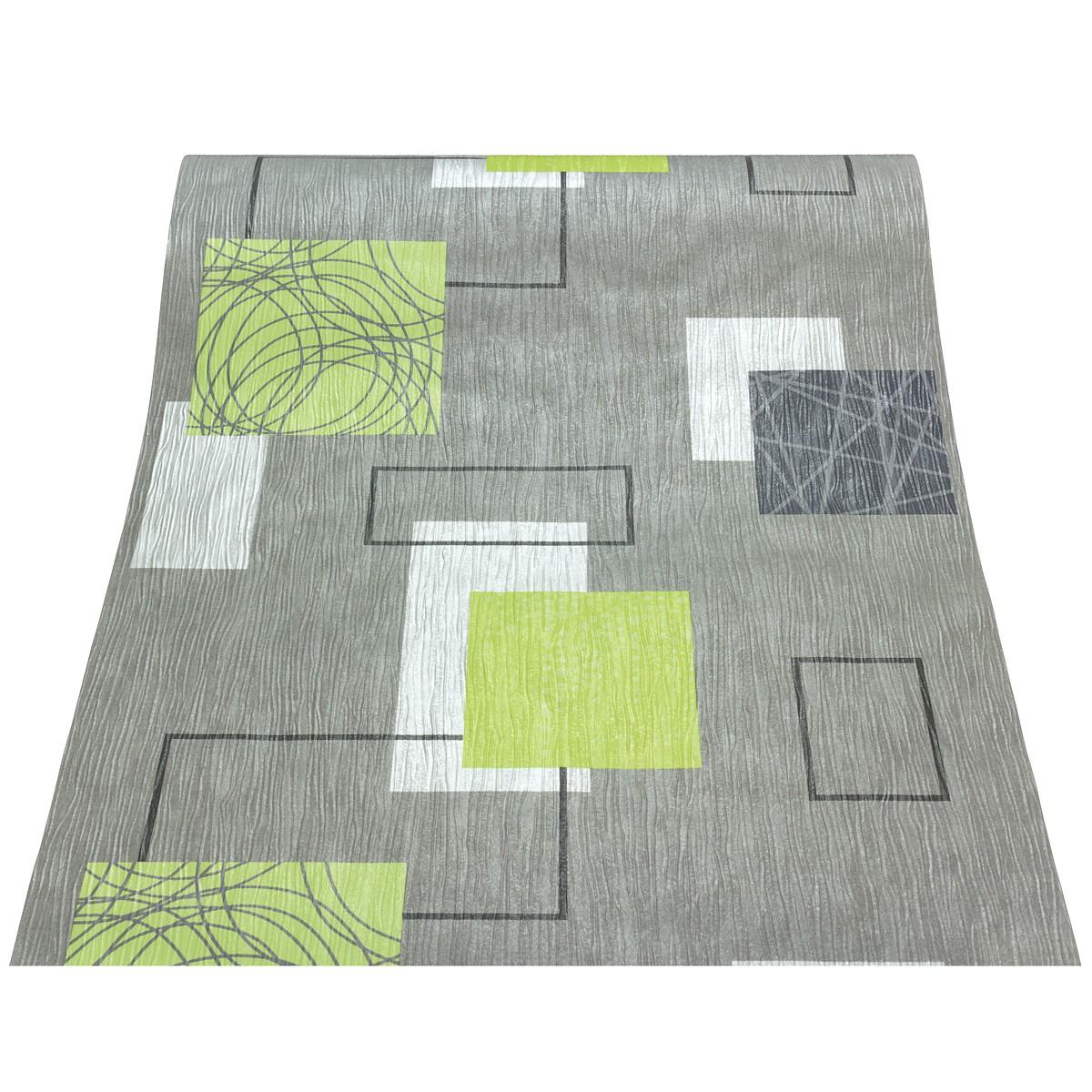 Schlafzimmer Tapeten Gr?n : Rasch homestyle Domino 277524 Tapete Kreise Streifen Struktur grau