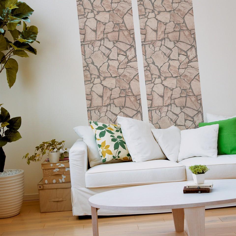 pop up panel selbstklebend 52x250cm 3d effekt 95575 1 mauer stein beige creme. Black Bedroom Furniture Sets. Home Design Ideas
