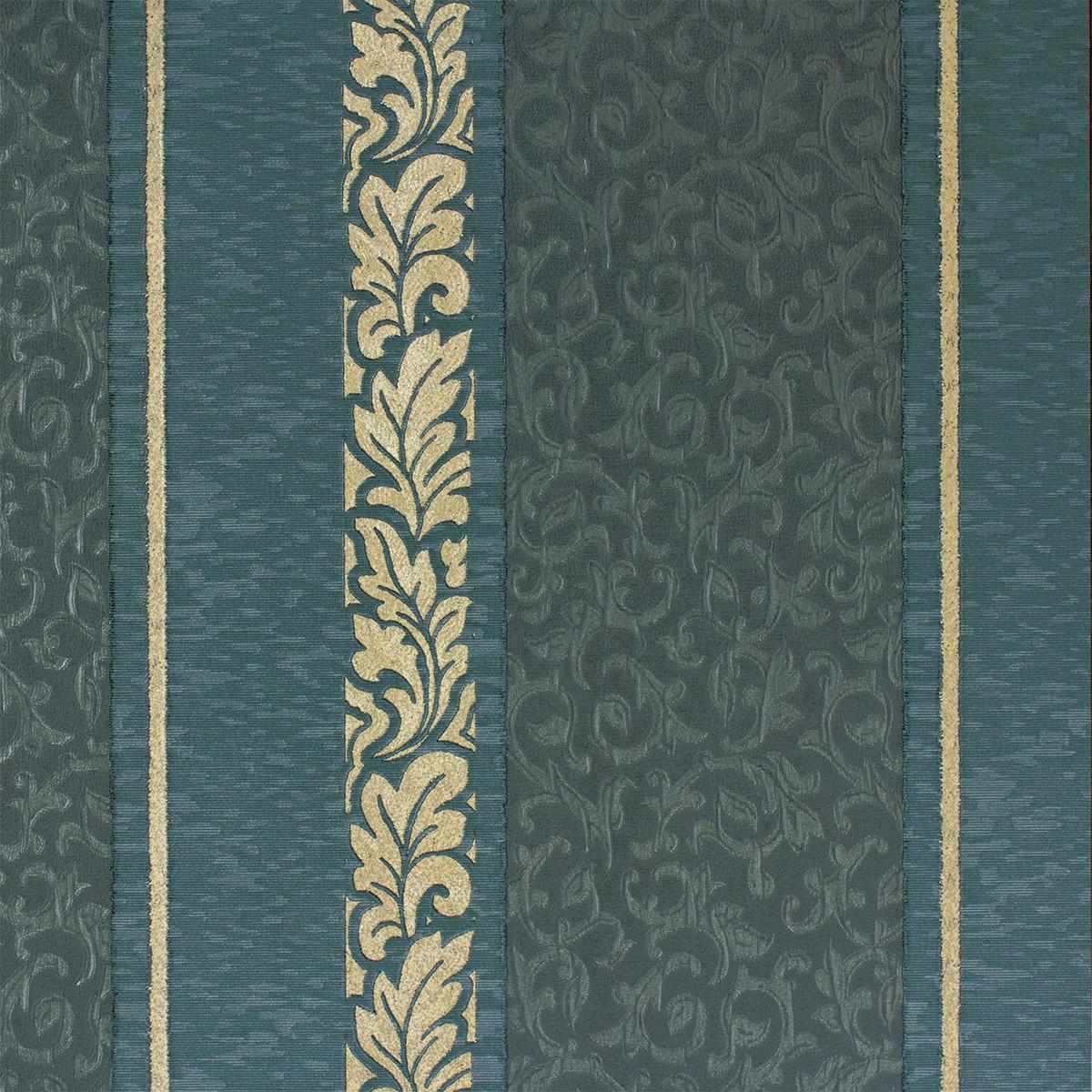 Barock Tapete Auf Leinwand : Angelica Streifen Barock t?rkis creme Tapete Rasch Textil 005326
