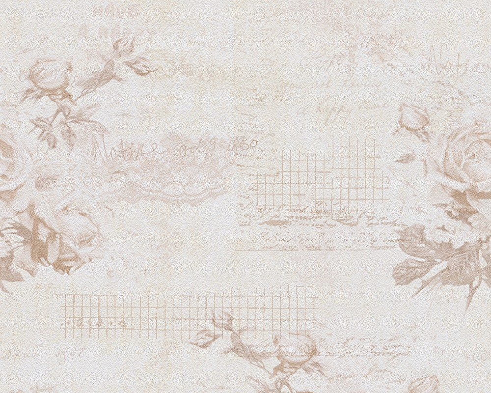 tapete wohnzimmer beige:Shabby Chic Blue Floral Background