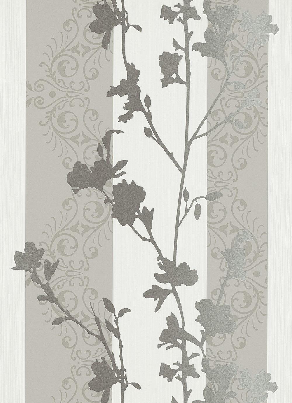 vliestapete ranken wei silber tapeten vertiko neo. Black Bedroom Furniture Sets. Home Design Ideas