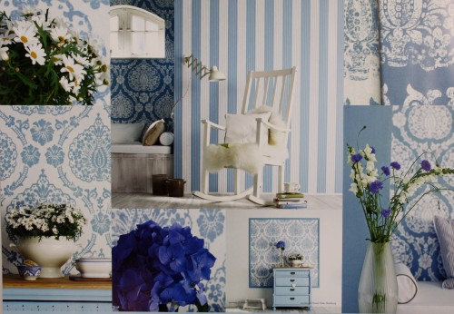 Marburg Tapeten Scandinavian Vintage : Vliestapete Scandinavian Vintage Marburg 51651 blau