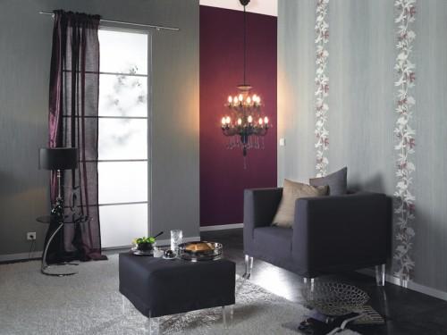tapete rasch intuicion landhaus vlies 733419 grau. Black Bedroom Furniture Sets. Home Design Ideas